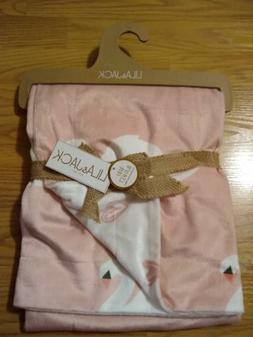 LILA & JACK Baby Blanket Swans Girls Infant Lovey Soft Pink