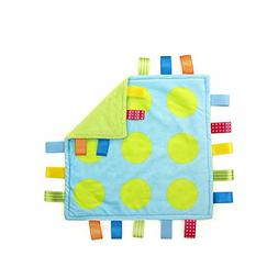 J&C Family Owned Lime Green Polka Dots Taggie Style Super So