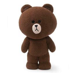 GUND Line Friends Brown 14 Inch Premium Plush Bear Standing