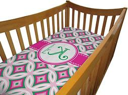 Linked Circles & Diamonds Crib Comforter / Quilt