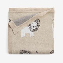 Elegant Baby Lion Cotton Knit Baby Blanket BNWT Unisex