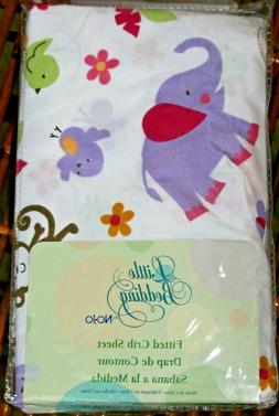 Little Bedding By NoJo Baby Tumble Jungle Fitted Crib Sheet
