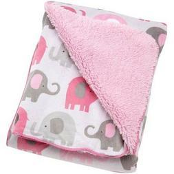 Little Bedding by NoJo Elephant Time Velboa Blanket