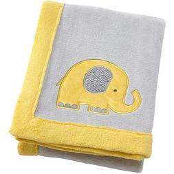 Little Bedding by Nojo Elephant Time Applique Coral Blanket,