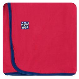Kickee Pants Little Boys Solid Swaddling Blanket - Flag Red