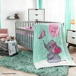 LITTLE ELEPHANT CRIB SET BABY Girl Gift Dumbo Bedding Shower