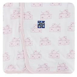 Kickee Pants Little Girls Print Swaddling Blanket - Natural