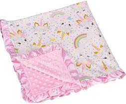 Little Jump Unicorn Print Baby Blanket Toddler Soft Blankie
