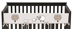Sweet Jojo Designs Little Lamb Farm Animals Long Front Rail