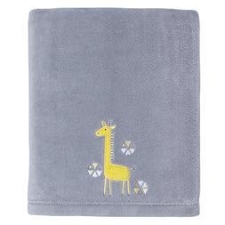 Little Love by NoJo Giraffe Time Appliqued Coral Blanket, Ye