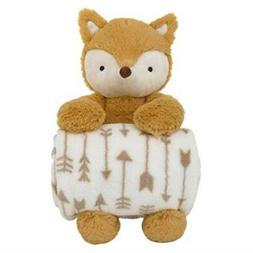 Little Love by NoJo Super Soft Plush and Blanket Fox, Rust,