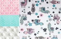 Personalized LLama Minky Baby Blanket /Stroller Blanket/Love
