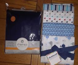 LOT NEW Carter's crib sheet Garanimals 4-Pack Receiving Blan