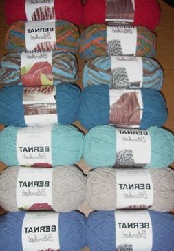 Lot of 2 Skeins Bernat Blanket Yarn, 5.3 oz/108 yds each, *Y