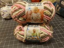 Lot of 3 Bernat Baby Blanket Yarn - Little Petunias