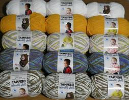 Lot of 3 Skeins Bernat Baby Blanket TINY Yarn, 3.5 oz, 316 y