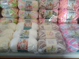 Lot of 3 Skeins Bernat Baby Blanket Yarn 3.5 oz each You Cho