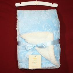 lullaby kids luxury sherpa baby blanket blue
