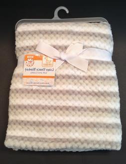 Swiggles Lux Fleece Baby Blanket 30 x 36 ~ TEXTURED STRIPED