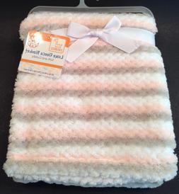 Swiggles Lux Fleece Baby Girl Blanket 30 x 36 ~ TEXTURED STR