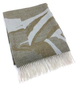 LILI ~ Luxe 100% Baby Alpaca Throw Blanket ~ Spa Blue/Loden