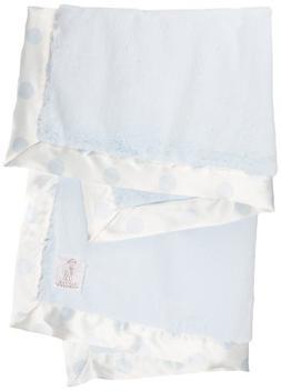 Little Giraffe Luxe New Dot Baby Blanket, Blue