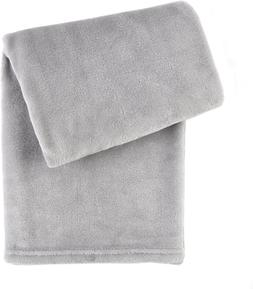 "Tadpoles Luxe Solid Plush Baby Blanket, Grey, 30"" x 40"""