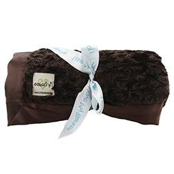 My Blankee Luxe Stone Throw Blanket with Flat Satin Border,