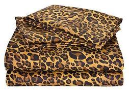 Luxurious Bedding Set Leopard/Zebra Print 800 Thread Count P