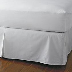 Split Corner Bed Skirt 18 Inch Drop 100% Egyptian Cotton 600