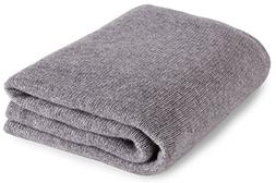 Love Cashmere Luxurious 100% Cashmere Travel Wrap Blanket -