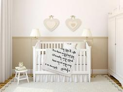 Luxuriously Soft Scripture Throw Baby Blanket   Jeremiah 29: