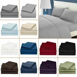 Luxury 4 PCs Sheet Set 100% Egyptian Cotton 600 Thread Count