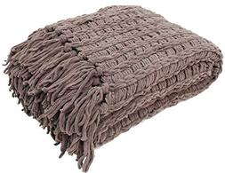J and M Home Fashions Luxury Chenille Throw