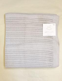 PEACOCK ALLEY $95 NWT LUXURY CROCHET BABY BLANKET 100% EGYPT