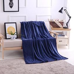 "Luxury Flannel Velvet Plush Throw Blanket – 50"" x 70""  by"