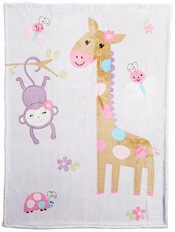 Summer Infant Luxury Plush Blanket, Pretty Pals