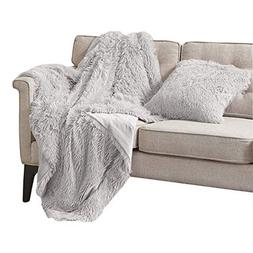 Comfort Spaces Luxury Shaggy Faux Fur Lightweight Throw Blan