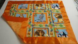Madagascar Lovey-Lion-Giraffe-Zebra-Penguin-Cotton Fabric-Or