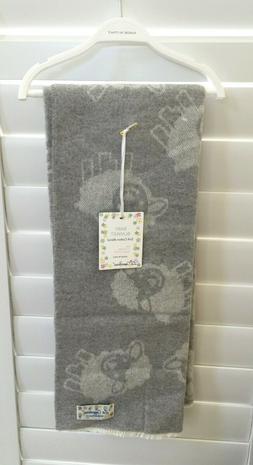 "La Copertina Made in ITALY BABY Blanket Grey Sheep Lamb 27""x"
