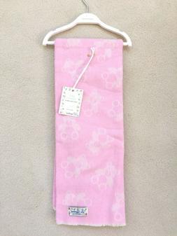 "La Copertina Made in ITALY BABY Blanket PINK Teddy BEAR 27""x"