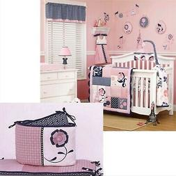 CoCaLo MADISON CRIB BUMPER Pink Blue Navy Baby Girl Paris Fl