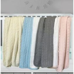"""effe bebe Magnolia Cable Knit and Sherpa Baby Blanket 30""""x40"""