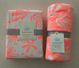 Cloud Island Matching Pink Lemonade Baby Blanket & Floral Co