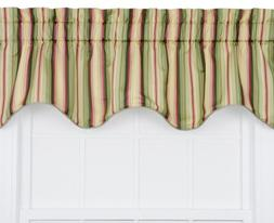 Ellis Curtain Mateo Medium Scale Stripe Print Lined Duchess
