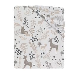 Lambs & Ivy Meadow Fitted Sheet, White/Cream