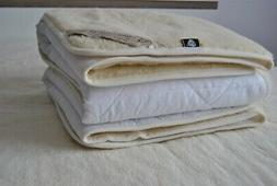 MERINO PURE WOOL UNDERBLANKET BED PAD 100% NATURAL Mattress