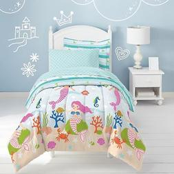 Dream Factory Mermaid Dreams 7-piece Bed in a Bag with Sheet