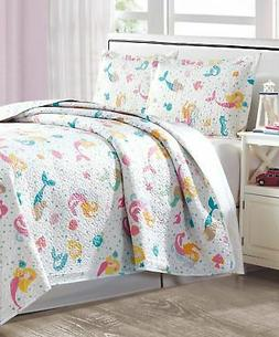 Mermaid Girls Quilt and Pillow Sham Set