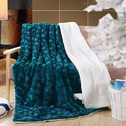 DaDa Bedding Lavish Throw Blanket - Ruched Mermaid Scales Fa